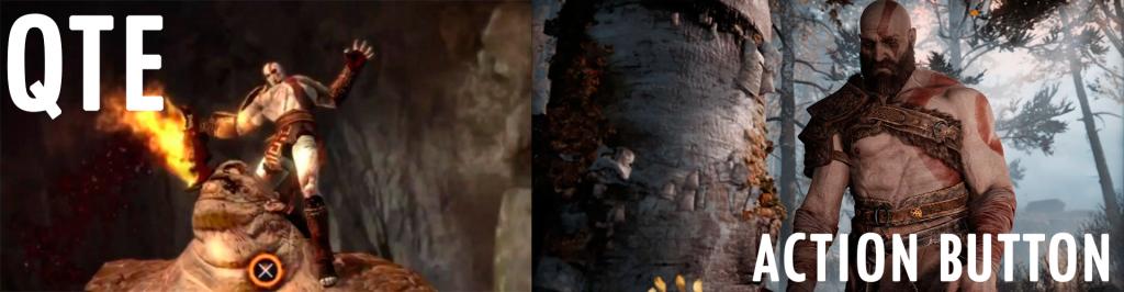 Um é um Quick Time Event, o outro é um Action Button... Saber diferenciar ambos é o ideal!